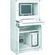 Treston 854364-49. Шкаф для компьютера 80 /160, светло-серый