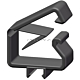 Treston CC12. Набор клипс для укладки кабелей,5 шт